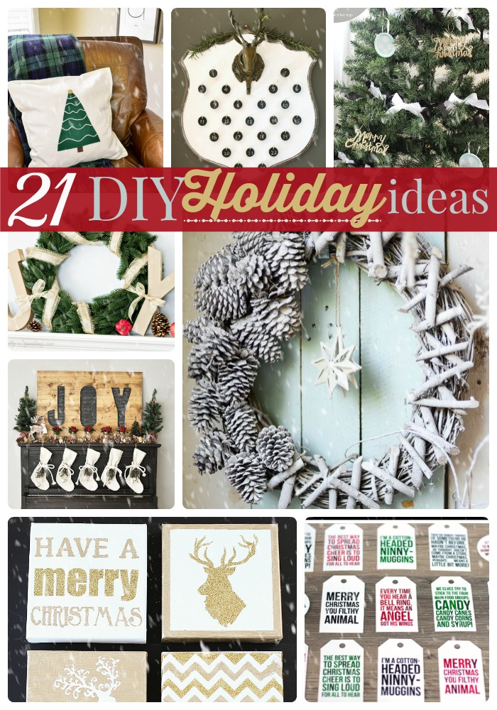 Great Ideas -- 21 DIY Holiday Ideas!